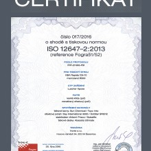 Certificate ISO 12647-2:2013